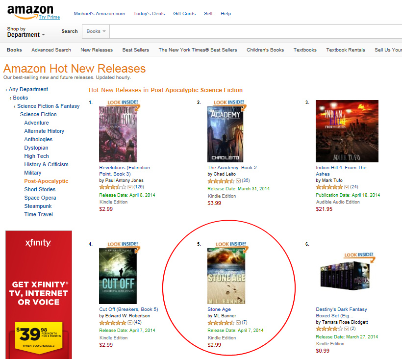 47a7c4c2eba33 STONE AGE is #5 on Amazon's Hot New Releases – ML Banner – Author of ...